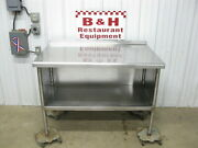 4' Stainless Steel Heavy Duty Kitchen Work Table Cabinet 48 X 30