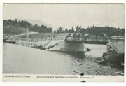 C1910 Pc Scenic View Of Lake Lamoille And New Road To Hyde Park – Morrisville, Vt