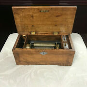 F160 Antique Original Swiss Musical Box Great Working Condition 1820s