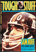 Sam Huff Auto Signed Tough Stuff The Man In The Middle By Sam Huff Hb/dj Hof
