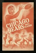 1941 Chicago Bears Football Media Guide Yearbook Nfl Champions 19-1 Sid Luckman