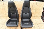 Porsche Boxster Carrera 987 Right And Left Adaptiv Seat Electric Black Leather Oem