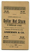 Scarce 1912 Detroit Tigers Baseball Schedule Dollar Hat Store Ty Cobb Jennings