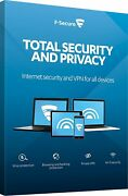 F-secure Total Security And Privacy 2021 10 Devices Includes Safe Vpn Licence 1 Yr