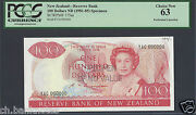 New Zealand 100 Dollars Nd 1981-85 P175as Specimen Perforated Uncirculated