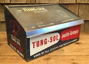 Vintage Tung Sol Auto Lamps Gas Service Station Counter Top Display Cabinet Sign