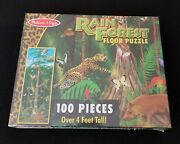 New Melissa And Doug 444 Rain Forest Floor Puzzle 100 Large Pieces Over 4 Feet