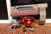 1950s Ideal Toy Corp. Fix-it Stage Coach With Box