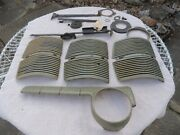 Lot Of Vtg Ford Auto Parts, Hood Brackets Springs Dash Mounting Parts Some 1946