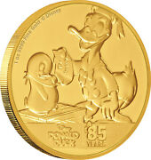 Niue - 2019 - 1 Oz Gold Proof Coin- Donald Duck 85th Anniversary