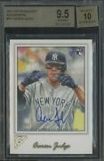 2017 Topps Gallery 117 Aaron Judge Yankees Rc Rookie Auto Bgs 9.5