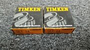 2 Golf Cart Bearing Race Set Cone And Cup Front Wheel, E-z-go 50892-g1 Timken