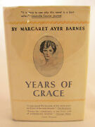Margaret Ayer Barnes Years Of Grace 1930 1st Edition Early Printing Dj Pulitzer