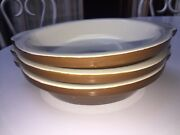 Hall Usa Pottery New Vintage 514 Gratin Baking Pie Pans Dishes Set