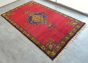 7x11 Rug. Hand Knotted Antique One Of A Kind Oushak Rug Rare Actual 78″ X 131″