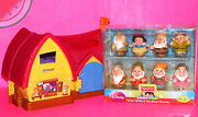 Fisher Price Little People With Musical Cottage House + New Snow White 7 Dwarfs
