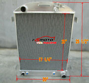 62mm Aluminum Radiator For 1932 32 Ford Hi-boy Chevy Engine V8 Grill Shell At/mt