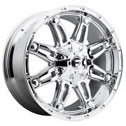 For 4 Wheels Fuel 1pc Hostage Chrome Plated 20x10 Rims Dodge Ram Hd Gm 8x6.5-18