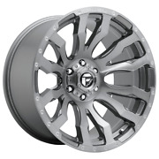 For 4-fuel Blitz Platinum Brushed Gun Metal 20x8.25 Rims Dodge Ram Gm 8x6.5-246