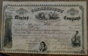 315 Connecticut Mining Company Stock Certificate 1864