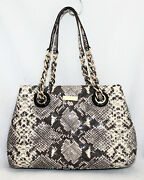 Kate Spade Gold Coast Maryanne Satchel Pxru3821 Quilted Snake Print Leather
