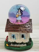 Kcare/turner Wizard Of Oz Music Box Water Snow Globe Dorothy Wicked Witch Rare