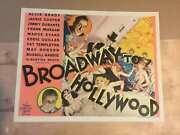Broadway To Hollywood - Jimmy Durante 1933 Us Half Sheet Movie Poster Lb