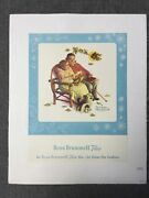 Beau Brummell Ties - Norman Rockwell 1953 8.25 X 11 Us Advertising Poster...