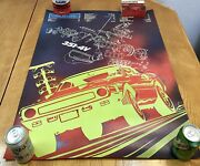 Vintage Original Ford 1970 Shelby Mustang 351c-4v Exploded Showroom Poster 24x33