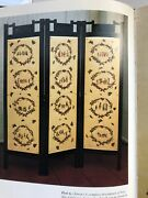 3 Panel Decoupage Folding Screen Room Divider Book Featured In Book Custom