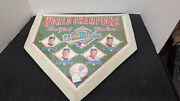 1996 World Champions New York Yankees World Series Home Plate Signed