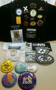 ☆ Lot 25 Norfolk Southern Railroad Lapel Pins / Buttons And Patches /safety And Anni