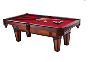 Pool Table 7' Cherry/maple Billiards Sticks And Table With Ball Set New
