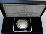 Usa United States 1 Dollar 1997 P Officers Memorial Silver Proof Box Coa