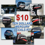 Mercury Any Model 10 15 40 50 60 70 85 90 100 115 135 150 175 200 225 Decals Kit