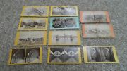 11 Antique Stereoscope Stereograph Cards. England, Scotland, France, Switzerland
