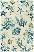 Area Rugs - Seashell Cove Indoor Outdoor Rug - 7and0396 X 9and0396 - Nautical Decor