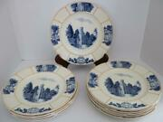 Wheaton College Wedgwood Dinner Plates 1940s Lot Of 13 Rare Htf Free Shipping