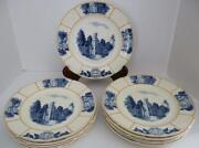 Wheaton College Wedgwood Dinner Plates 1926 Lot Of 12 Rare Htf Free Shipping