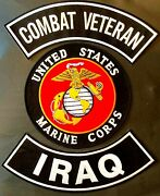 U.s. Marine Corps Seal Iraq Combat Veteran Military Motorcycle Lot Of 3 Patches