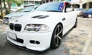 Carbon Front Lip Spoiler Hm Style For Bmw E46 M3 Only
