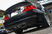 New For Bmw E46 M3 Only Full Carbon Rear Diffuser Spoiler V Style