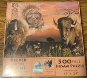 Sunsout 500 Piece Jigsaw Puzzle - Keeper Of The Plains