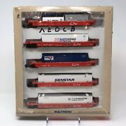Walthers 305andrsquo Thrall 5 Unit Articulated Double Stack Car Canadian National Train