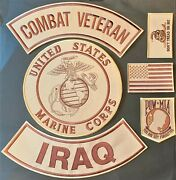 U.s. Marine Corps Seal Combat Veteran Iraq Military Motorcycle Lot Of 6 Patches