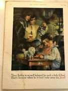 Vintage Full Page Ad For Jello. Art By Linn Ball. The Youth's Companion 1926
