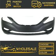New Fits 2011-2013 Hyundai Sonata Front Bumper Cover Painted To Match