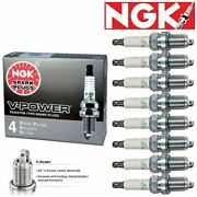 8 New Ngk V-power Spark Plugs 1992-2011 Ford Crown Victoria Gas Flex 4.6l