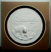 Vintage 3d Polar Bear Salmon Paper Mache Art Catch Your Own Signed Numbered