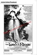 And039lord Of The Ringsand039 - Ralph Bakshi Animated Version From 1978 - Pressbook